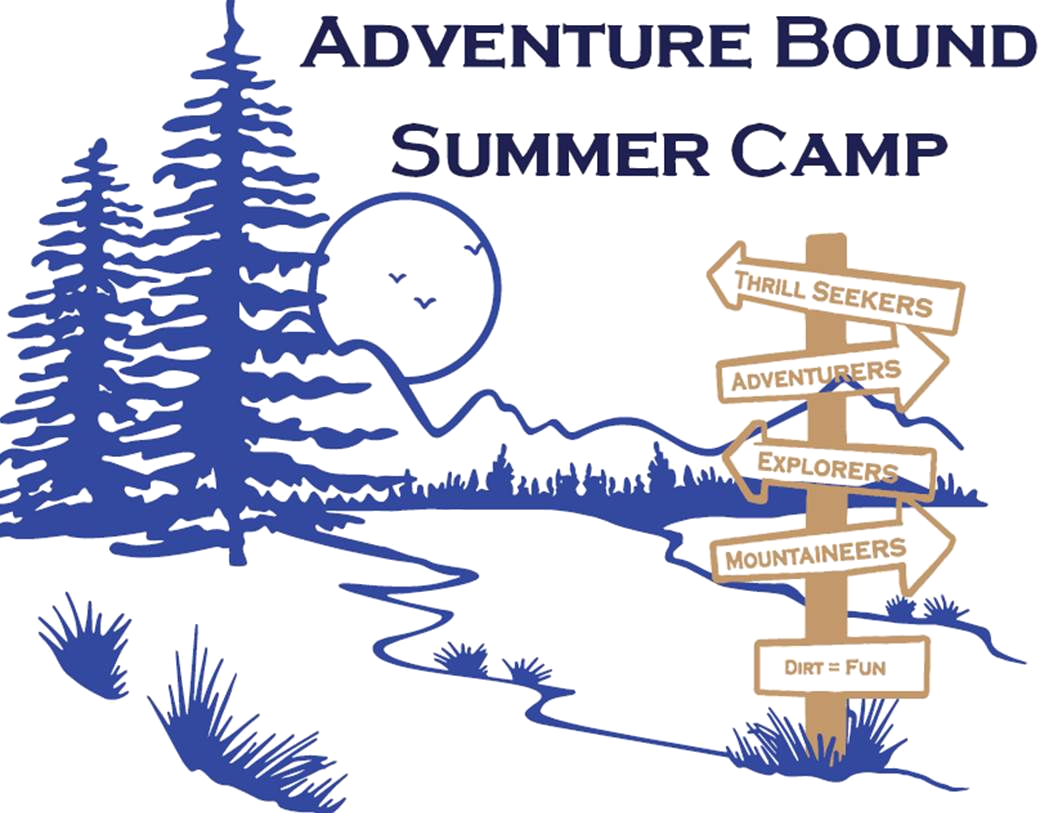 Adventure Bound Syummer Camp with moon and arrowed sign
