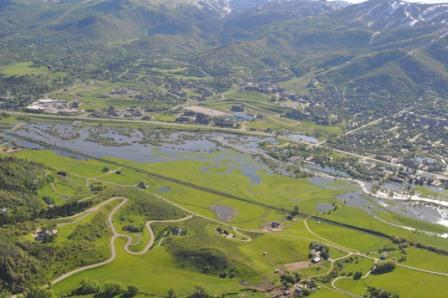 View of the Yampa River Flooding Effects From Above