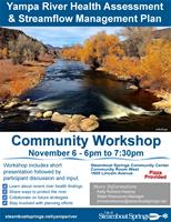 Yampa River Health Assessment and Streamflow Management Plan Community Workshop
