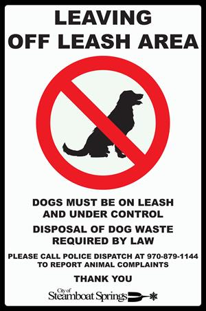 Off-Leash Signage - Exit