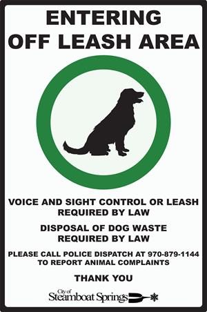 Off-Leash Signage-Enter