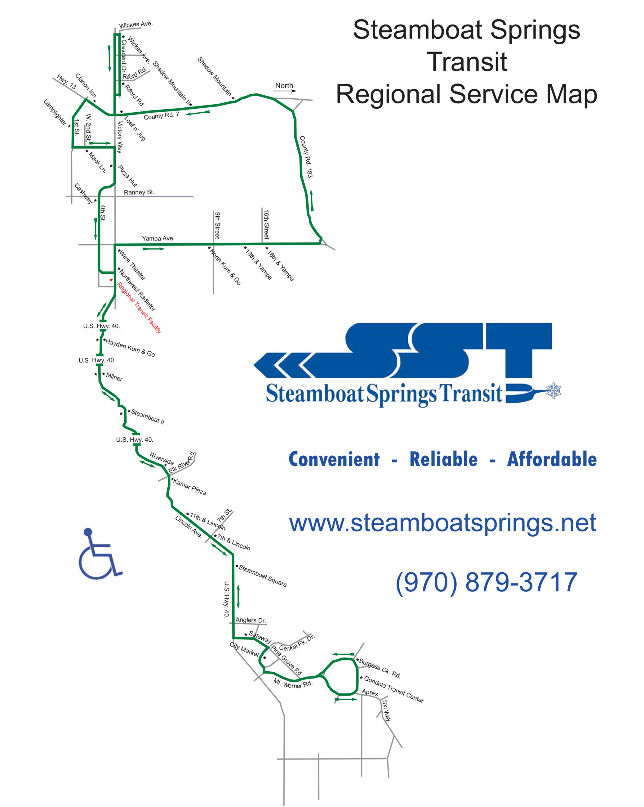 regional service map steamboat springs co official website city of steamboat springs