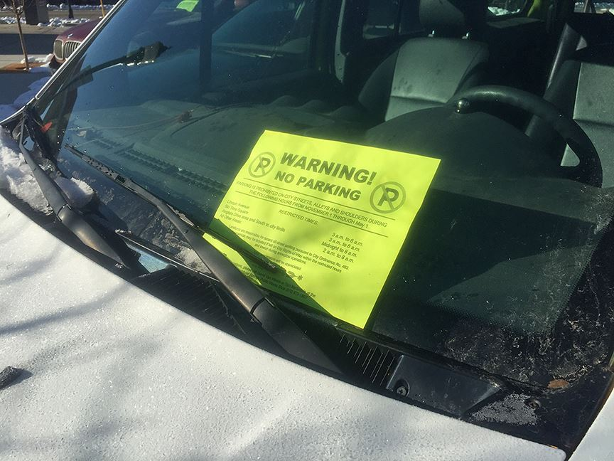 Winter Parking Notice