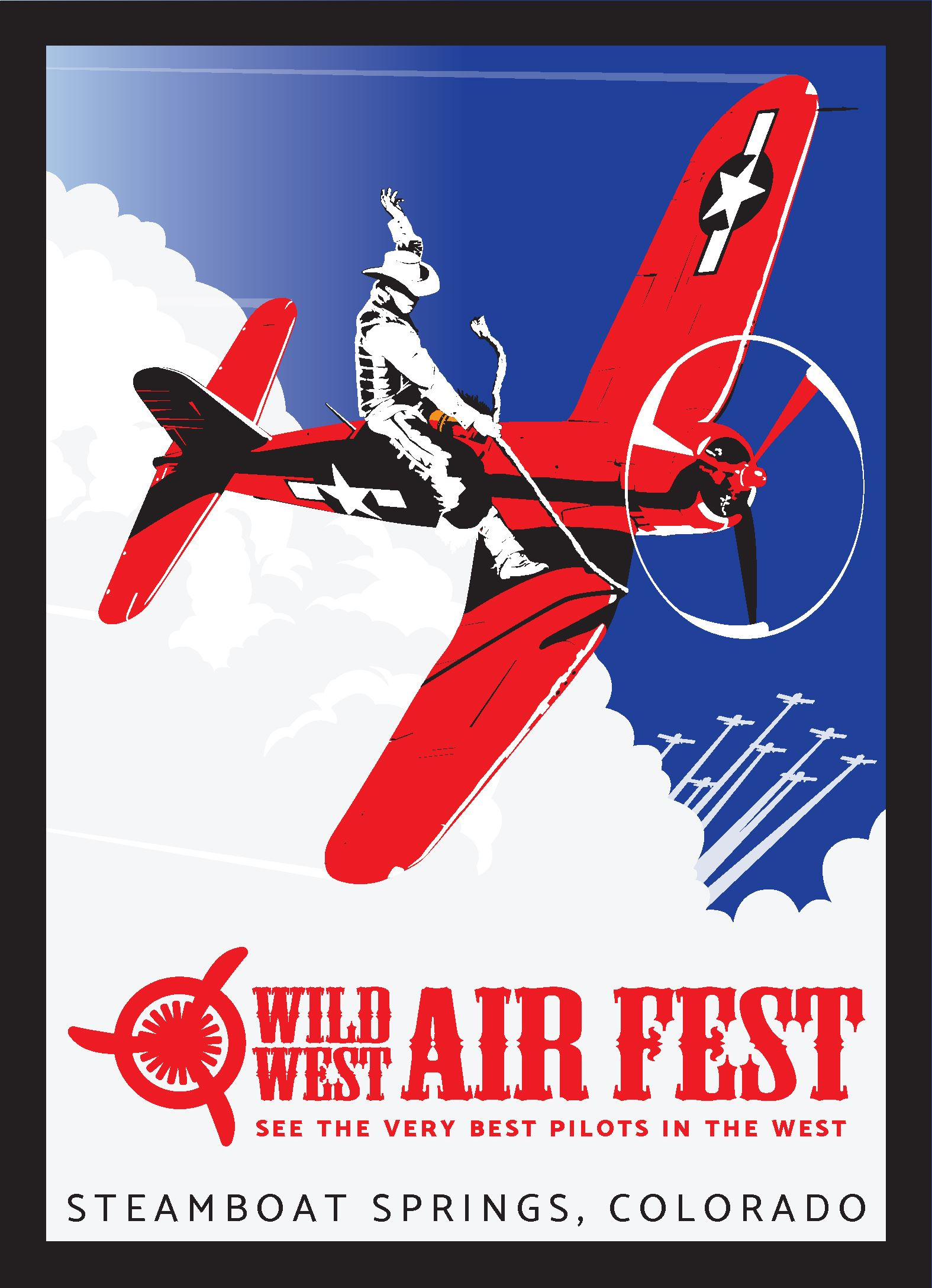 Wild West Air Fest Postcard Front