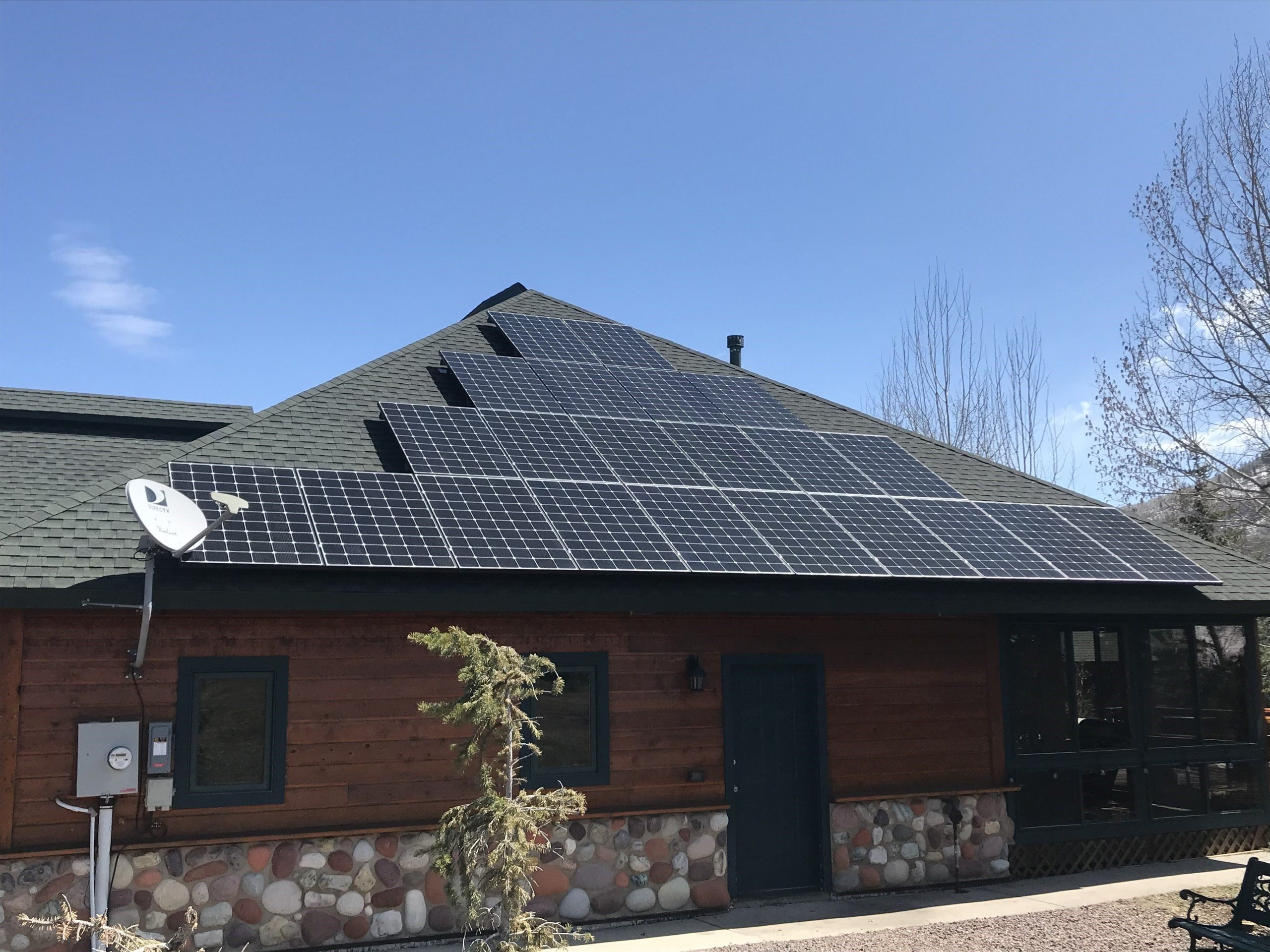 Side of house mount Courtesy Brightside Solar in Steamboat Springs.